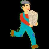 本を運ぶ人